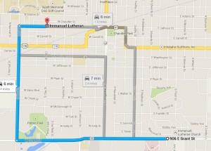 Immanuel locations map
